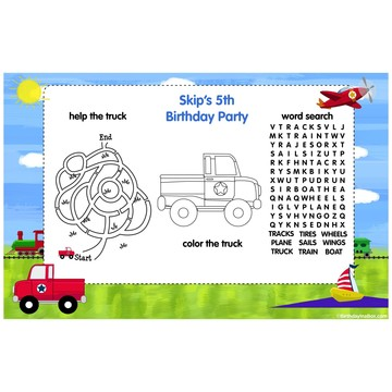 On the Go Personalized Activity Mat (8 Pack)