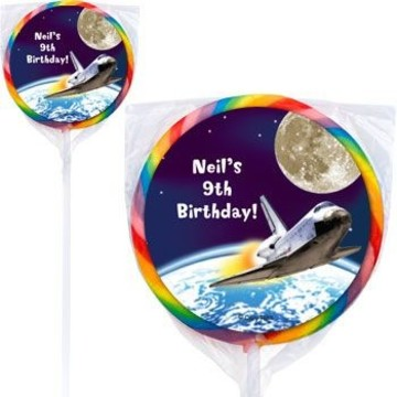 Outer Space Personalized Lollipops (pack of 12)
