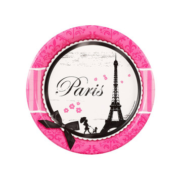 Paris Damask Dessert Plates (8)