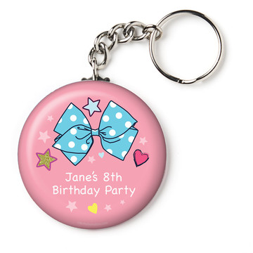 """Party Bows Personalized 2.25"""" Key Chain (Each)"""