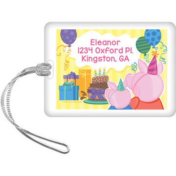 Party Pig Personalized Bag Tag (Each)