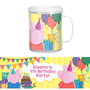Party Pig Personalized Favor Mug (Each)