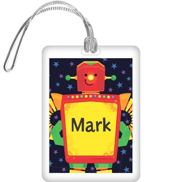 Party Robot Personalized Bag Tag (each)