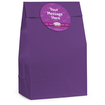 Paw Command Pink Personalized Favor Bag (12 Pack)