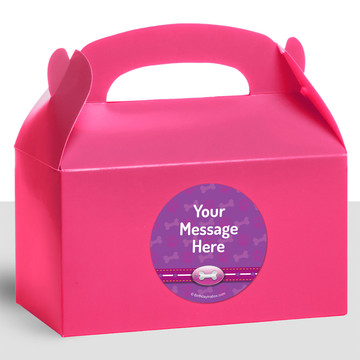 Paw Command Pink Personalized Treat Favor Boxes (12 Count)