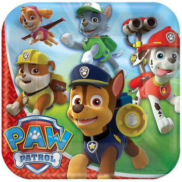 "Paw Patrol 9 "" Luncheon Plate (8 Pack)"