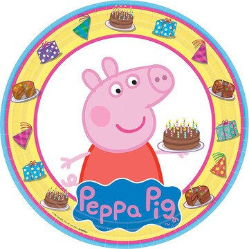 "Peppa Pig 9"" Luncheon Plate (8 Pack)"