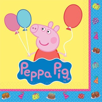 Peppa Pig Beverage Napkins (Set of 16)