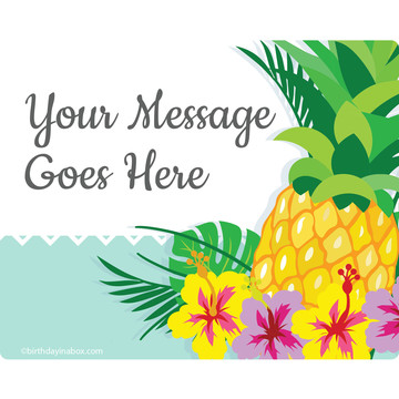 Pineapple Personalized Rectangular Stickers (Sheet of 15)