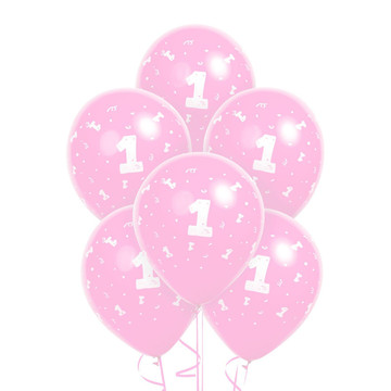 Pink 1 Latex Balloons