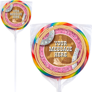 Pink Bandana Personalized Lollipops (12 Pack)