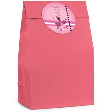 Pink Poodle Personalized Favor Bag (Set Of 12)
