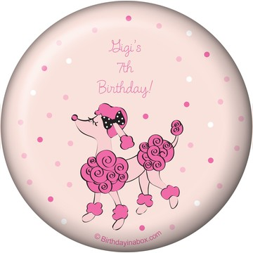 Pink Poodle Personalized Magnet (each)