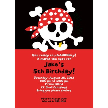 Pirate Birthday Personalized Invitation (each)