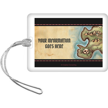 Pirate Map Personalized Bag Tag (Each)