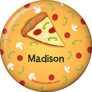 Pizza Party Personalized Button (each)
