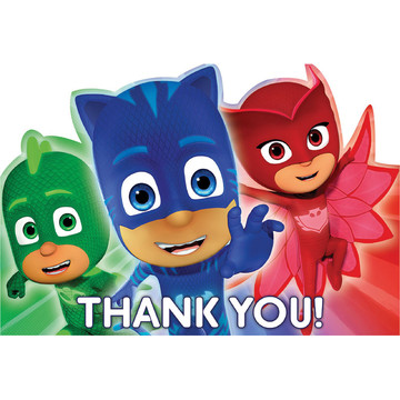 PJ Masks Thank You Cards (8 Count)
