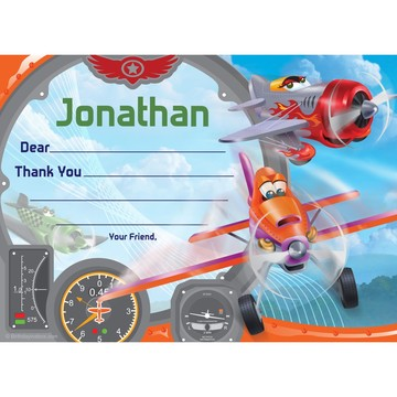 Planes Personalized Thank You (Each)