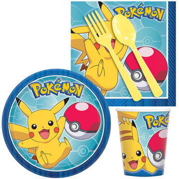 Pokemon Birthday Party Standard Tableware Kit (Serves 8)