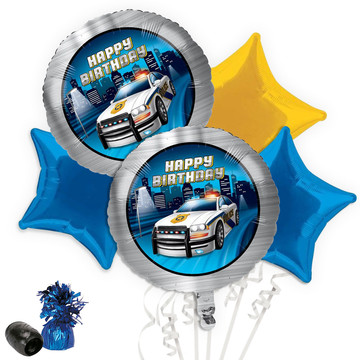 Police Party Balloon Bouquet Kit