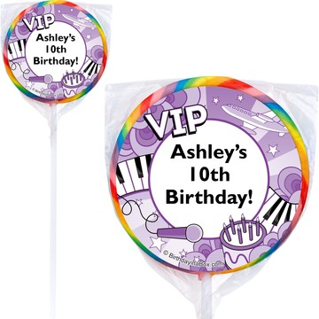 Pop Star Personalized Lollipop