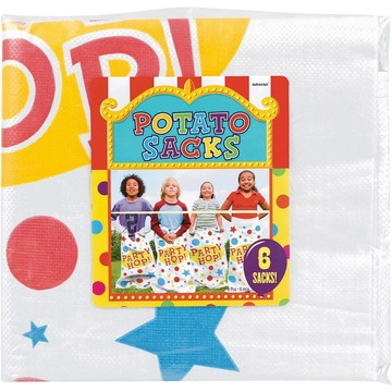 Potato Sack Race Game (6 Count)