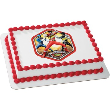 Power Rangers Quarter Sheet Edible Cake Topper (Each)