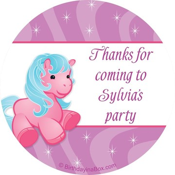Pretty Pony Personalized Sticker