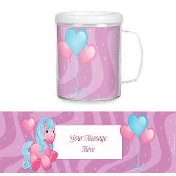 Pretty Pony Plastic Personalized Favor Mugs (Each)