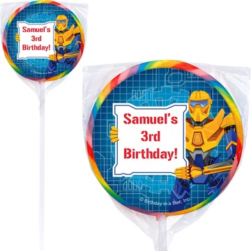 Prime Robot Personalized Lollipop