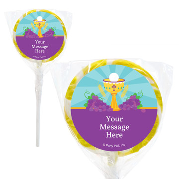 "Primera Communion Personalized 2"" Lollipops (20 Pack)"
