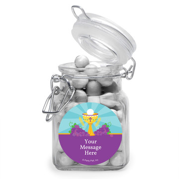 Primera Communion Personalized Glass Apothecary Jars (10 Count)