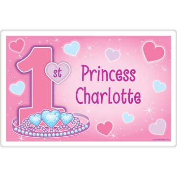 Princess 1st Birthday Personalized Placemat (each)