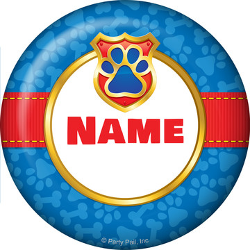 Pup Command Personalized Mini Button (Each)