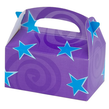 Purple with Blue Stars Empty Favor Boxes