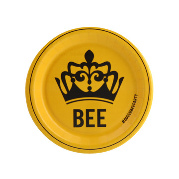 Queen Bee Yellow Dessert Plate (8)