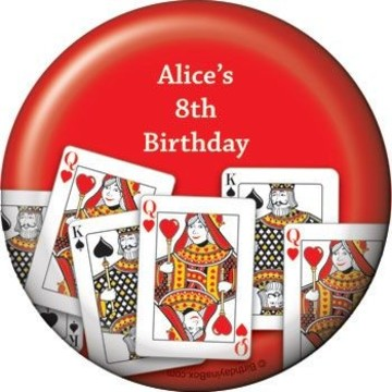 Queen's Card Party Personalized Magnet (each)