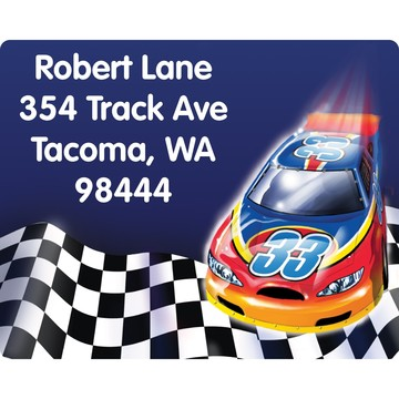Race Cars Personalized Address Labels (Sheet of 15)