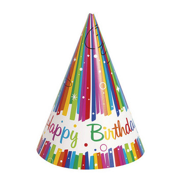 Rainbow Ribbons Birthday Party Hat (8)