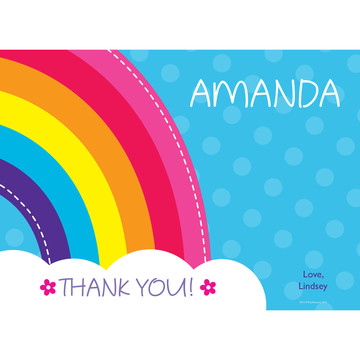 Rainbow Wishes Personalized Thank You (Each)