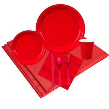 Red Party Pack (For 8 Guests)