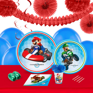 Mario Kart Wii 16 Guest Tableware Deco Kit