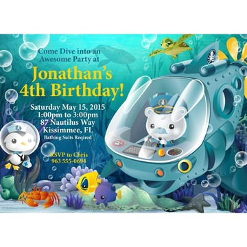 Sea Explorer Personalized Invitation (Each)
