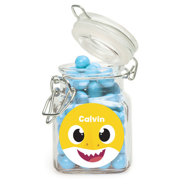 Shark Family Personalized Glass Apothecary Jars (12 Count)