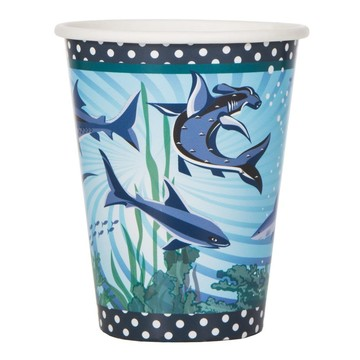 Shark Party 9oz Cups (8 Pack)