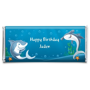 Shark Personalized Candy Bar Wrapper (each)