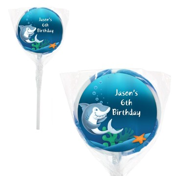 "Sharks Personalized 2"" Lollipops (20 Pack)"