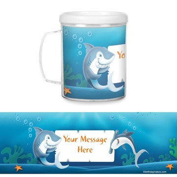 Sharks Plastic Personalized Favor Mugs (Each)
