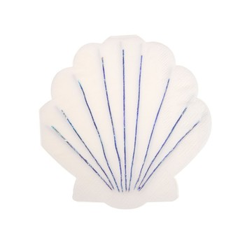 Shell Shaped Beverage Napkins, 16ct