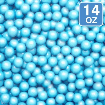Shimmer Powder Blue Sixlets 14oz (Each)